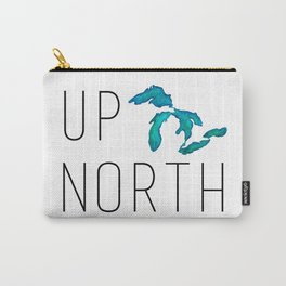 UP NORTH with watercolor great lakes Carry-All Pouch