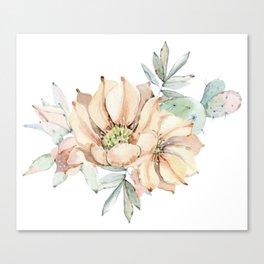 Coral Desert Roses Canvas Print