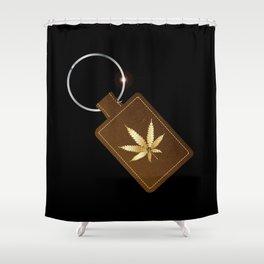Marijuana Key Fob Shower Curtain