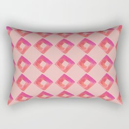 Pink Diamonds Rectangular Pillow