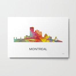 Montreal Quebec Canada Skyline WB1 Metal Print