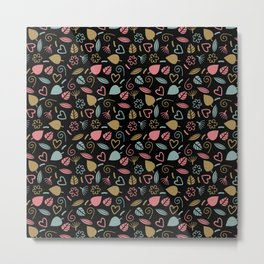 Colorful Lovely Pattern Metal Print
