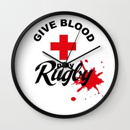 Give Blood, play Rugby Wall Clock