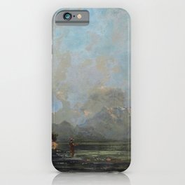 "Gustave Courbet ""Lake Geneva (Le Lac Léman - La Dent du midi)"" iPhone Case"