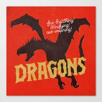 dragons Canvas Prints featuring Dragons by WEAREYAWN