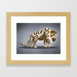 Bison Leopard Framed Art Print