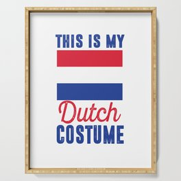 my dutch costume netherlands holland costume cheese Serving Tray