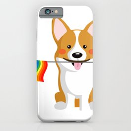 LGBT Gay Pride Flag Corgi - Pride Women Gay Men iPhone Case