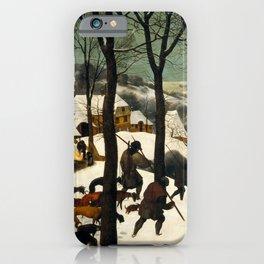 Hunters in the Snow - Pieter Bruegel the Elder iPhone Case