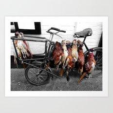 butcher's bike Art Print