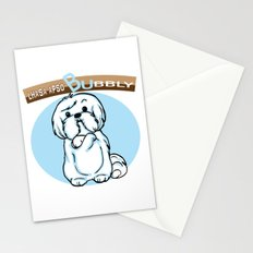 Lhasa Apso Bubbly Stationery Cards