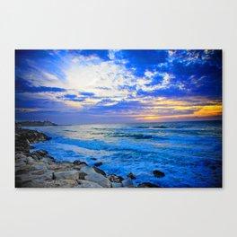 Tel Aviv Beach Sunset Canvas Print
