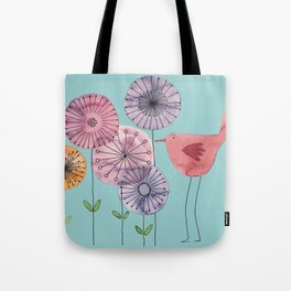 "Birdy blue ""Speak to me!"" Tote Bag"