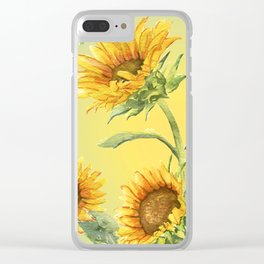 Sunflowers 2 Clear iPhone Case