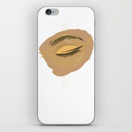 Golden Glasses iPhone Skin