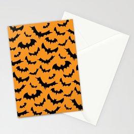 Halloween Bats Pattern Stationery Cards