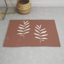 Abstract Leave Pattern Rug