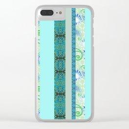 zakiaz Parisian stripe Clear iPhone Case