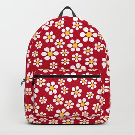 Dizzy Daisies - Red Backpack