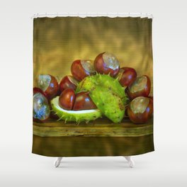 Conker Season Shower Curtain