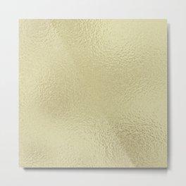 Simply Metallic in White Gold Metal Print