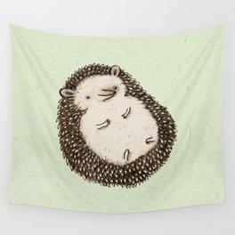 Plump Hedgehog Wall Tapestry