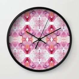 Dreamy Pink Palette (Abstract Painting) Wall Clock