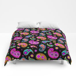 Paisleys and Flowers Comforters