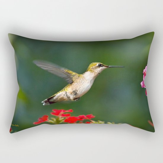 Summer Hummingbird Rectangular Pillow