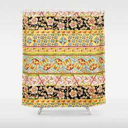 Gypsy Boho Stripe Shower Curtain