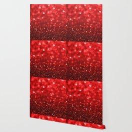 Ruby Red Disco Glitter & Sparkles Wallpaper