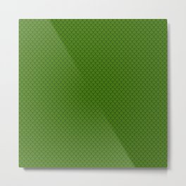 Leaf Green Scales Pattern Metal Print