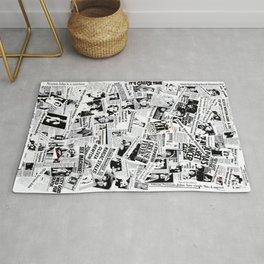 Olivia Newton-John - 40 years of Newspaper Headlines Collage Rug