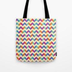 Coloured Chevron Tote Bag