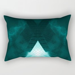 Turquoise skyscraper mill V WH Rectangular Pillow