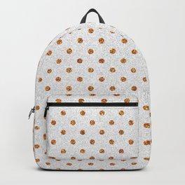 Elegant white modern faux gold glitter polka dots Backpack