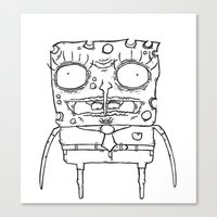 spongebob Canvas Prints featuring Spongebob by Marc Iwasykiw