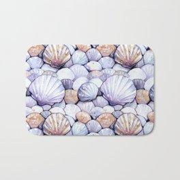 Sea Shells Amethyst Bath Mat
