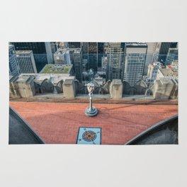 Coin operate viewfinder at Rockefeller Center Rug