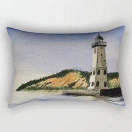 ~Frankfort Lighthouse~ Rectangular Pillow