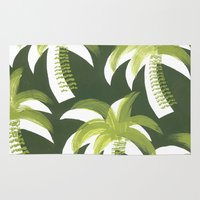 palms Area & Throw Rugs featuring Palms by Dianne E