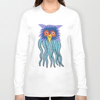 cthulu Long Sleeve T-shirts featuring the owl of cthulu by ronnie mcneil
