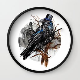 Dark Raven Wall Clock
