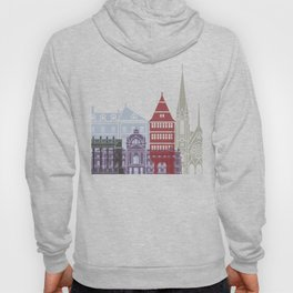Strasbourg skyline poster Hoody