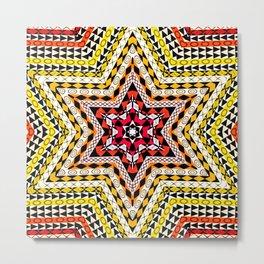 African Design - Star Multi Colors Metal Print