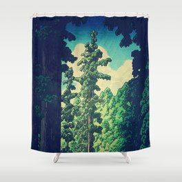 Under the cover of Yanakaden Shower Curtain