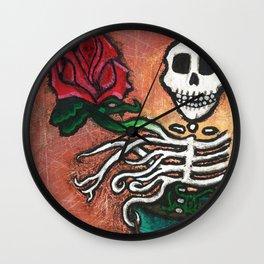DEAD FLOWER Wall Clock