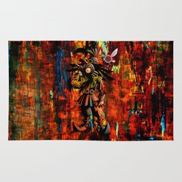 Majora Mask Abstract Rug