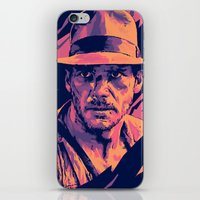indiana jones iPhone & iPod Skins featuring indiana jones// bad actors v2 by mergedvisible