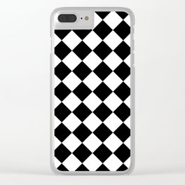 Contemporary Black & White Gingham Pattern - Mix and Match Clear iPhone Case